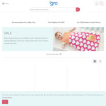 Grostore up to 60% off Click Frenzy Deals on Grobags Groswaddles and Electricals and Sleep Aids