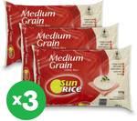 SunRice White Medium Calrose Grain Rice 3x 10kg $55 (Online Only) @ Woolworths