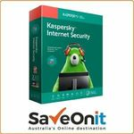 Kaspersky Internet Security 2020 1 PC 1 YEAR $9.99 Delivered @ SaveOnIT eBay