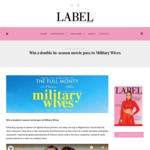 Win 1 of 10 Double in-Season Movie Passes to Military Wives from Label Magazine