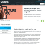 UniBank Student Banking 5% Cashback ($150 Max in 6mo) for Uni Students & Recent Graduates