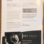 [VIC] Ex Chef Knife Sharpening - Collection and Delivery Service 3 Knives $30 Inc Delivery @ Joe's Knife Kitchen