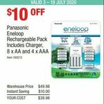 Panasonic Eneloop Rechargeable Battery Pack (8*AA and 4*AAA) $39.98 @ Costco (Membership Required)