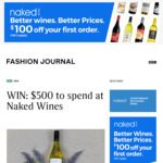 Win a $500 Naked Wines Voucher from Fashion Journal