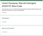 Win 1 of 100 Codes the PC Beta for Marvel Avengers (2020) from Umart