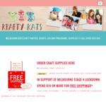 Free Postage on Craft Items (Min Spend $19) @ Kids Craft Parties