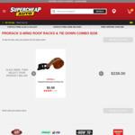 Combo Deal - Prorack S-Wing Roof Racks Pair 1200mm S16 PLUS 2m Cambuckle Tie Down $238 @ Supercheap Auto