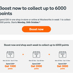 [Everyday Rewards] Spend $30/$40/$50 to Receive 1000/2000/3000pts @ Woolworths
