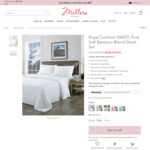 Royal Comfort 1000TC Pure Soft Bamboo Blend Sheet Set $39 (RRP $199) Double/Queen/King Size @ Millers + Shipping/ $0 if Spend $8