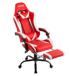 ZENEZ Gaming Chair PU Leather with Footrest BLACK/GREY $104.50 Delivered @ Gshopper Australia