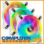Corsair 120mm QL120 RGB White Fan Triple Kit $143.20 Delivered @ Computer Alliance eBay