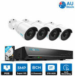 [eBay Plus] Reolink 8CH HD PoE 5MP 4PCS IP Security NVE System RLK8-410B4-5MP $349.19 Delivered @ Reolink eBay