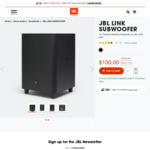 "JBL LINK 10"" Wireless Subwoofer $100 + Delivery (Was $399) @ JBL"