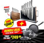 Baccarat Damashiro Bodo 10 Piece Japanese Steel Knife Block + Cookset Bundle $212.49 Delivered (Was $249.99) @ House