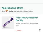 Free Cadbury Neapolitan 50g Bar @ My 7-Eleven App