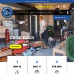 Free 1 or 3 Cubic Meter Blue or Green Bag Delivered @ Blue Croc Rubbish Removal