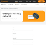 Free Ring Sizing Kit via Bankwest