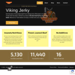 30% off All 200g Bags $19.60 (Was $28) + 100g Tester + $8 Shipping @ Viking Jerky