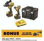 [WA] Dewalt 18V 2 Piece Heavy Duty Brushless Combo Kit DCK296T2T-XE Kit $415 C&C /+ Delivery @ Bunnings, Harrisdale