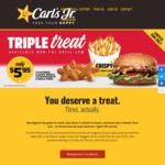 [QLD, NSW, SA, VIC] Single California Classic, Three Star Nuggets and a Small Fries for $5.95 at Carl's Jr