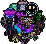 Reayouth Neon Laptop Stickers $5.60 + Delivery ($0 with Prime/ $39 Spend) @ Sparks Au via Amazon