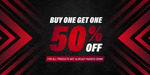 Buy One Get One 50% off on All Products Not Marked down (Brands Include adidas/ASICS/Champion/Mizuno/Puma/Superdry) @ Just Sport