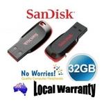 SanDisk Cruzer Blade 32GB USB Flash Pen Drive @ $24.95 Delivered