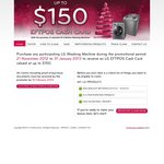 Up to $150 Cash Back - LG Washing Machine