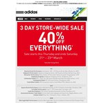 Adidas 3 Day Store-Wide Sale 40% Sale Everything (Excludes Energy Boost)