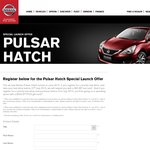 Register and Test Drive The All New Nissan Pulsar Hatch and Receive a $50 BP Fuel Card