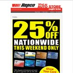 Repco 25% off for RAC* and NRMA Members
