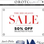 Oroton Mid Season Sale 50% off Online and Instore