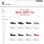Further 25% Discount on Sale Shoes from HUSH PUPPIES