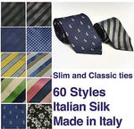 Skinny and Classic Tie Sale - 90% off Mens Avenue Italian Silk Ties - 60 Styles - $4 + $2 Shipping @ Avenue Clothing eBay Store