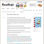 10% off Books at Readings (Instore and Online)