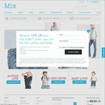 Mix Apparel - Online Exclusion Save $30 When You Spend $60 (50% Discount) + Shipping $10