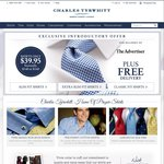 Charles Tyrwhitt Men's Shirts & Ties Only $39.95 + Free Delivery