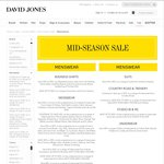 Take an Extra 30% off on Already Reduced Fashion, Shoes and Accessories @ David Jones