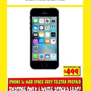 prepaid iphone 5s iphone 5s 16gb space grey 499 on telstra prepaid jb hi 12801