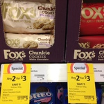 Fox's Chunkie Cookies - 2 for $3 (Save $5 - 62.5% off) @ Coles