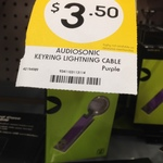 Kmart Lightning Cable Key Ring $3.50