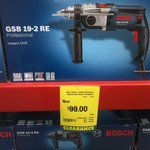 Bosch Professional (Blue) Hammer Drill GSE 19-2 RE $99 (Reduced from $244) @ Bunnings Warehouse