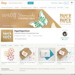 35% off Storewide (Flash One Day Offer) on All Our Handmade Paper Goods @PaperPaperStore