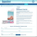 FREE Bepanthen Ointment (Nappy Rash Prevention for Babies) Trial Kit 3.5g Sample Delivered