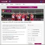 Enjoy up to 10% off* on Your Next Qatar Airways Flight