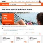 Jetstar Island Time Sale: Honolulu Return Melb & Syd $478, Bali Return Per $149, Adel $257, Bris $343, Melb $355, Syd $383 +More
