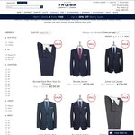 Suit Jacket $20 (Was $385) Suit Trousers $20 (Was $250) Waistcoat $20 (Was $165) @ TM Lewin (Shipping $10)