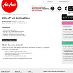 20% off* Base Fare for All Destinations @AirAsia