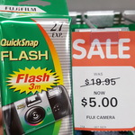 Fujifilm 27exp Disposable Camera - $5 (Was $19.95) @ Big W