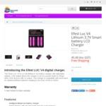 Efest LUC V4 LCD 4 Slot Digital li-ion lithium battery Charger 15% OFF $38.99 Delivered @TechAroundYou